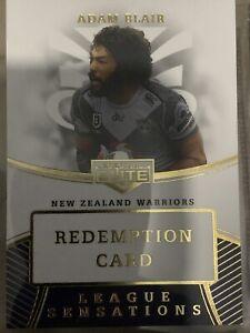 2020 NRL Elite League Sensation (LS) White Redemption Card- Adam Blair 27/80 🔥