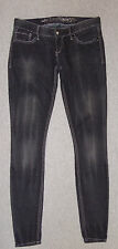 Express Jeans Sz 4 Zelda Slim Fit Ultra Low Rise Legging Skinny Leg Black