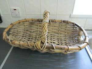 Large Vintage Wicker? Garden Trug Flower Basket Display 58cms Wide