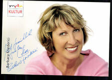 Barbara Friederici MDR Autogrammkarte Original Signiert ## BC 24618