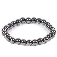 Magnetic Hematite Bracelet 6mm Beads Healing Pain Focus Willpower Trust AUS SELL