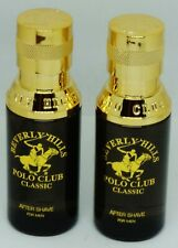 2 Beverly Hills POLO CLUB CLASSIC After Shave FOR MEN 1.7 FL OZ ea Rare