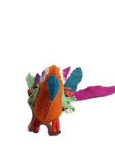 """Twoolies Plush Colorful Natural Wool Guacamaya Bird Large 7"""" Tall"""