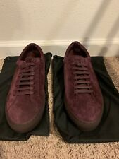 Givenchy Suede Maroon Urban Knots Lo-Top New Sneakers Size 11 / 44