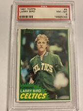 1981 Topps Larry Bird # 4 PSA 8 NM-MT