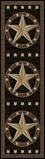 "2x8 (2'3"" x 7'7"") Texas Star Rustic Cowboy Western Black Brown Runner Area Rug"