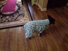 pet dog pajamas,colorful owls,blue, Large for medium breeds*(read size details)