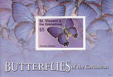 St-Vincent Grenadines MNH Sc 3570 Souvenir sheet Value $ 4.00 US $$ Butterflies