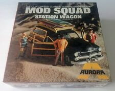 1969 AURORA *SEALED* THE MOD SQUAD STATION WAGON Mercury Woodie Rare Model Kit