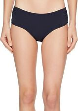 Michael Kors 188679 Womens Shirred Hipster Bottom Swimwear Navy Size Large