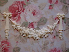 Shabby & Chic Bow/Ribbon Drops Rose Swag Set Furniture Applique Architectural