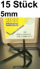 15 x CHIAVE PIN 5mm RIBE DIN 6911 INBUS RUBINETTO CHIAVE A BUSSOLA