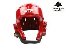 Taekwondo Wt Head Kickboxing Head Gear Tkd Helmet Pine Tree Colour Red Size L
