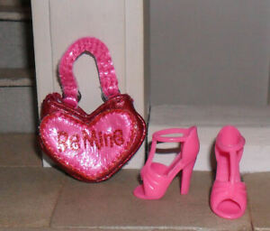 1/12TH SCALE DOLLS' PINK BAG AND SHOES