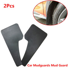 A Pair Carbon Fiber Style Plastic Car Mudguards Mud Flaps Splash Guard Fender