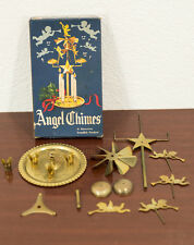 VINTAGE BRASS SWEDISH ANGEL CANDLE CHIMES CHRISTMAS DECORATION & ORIGINAL BOX