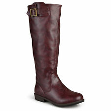 b52353c88f3 JOURNEE Collection Womens Wide Calf Buckle Detail BOOTS