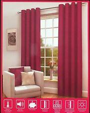 "Luxury Thermal Eyelet Blackout Curtains 66"" x 90"" - Fuchsia"
