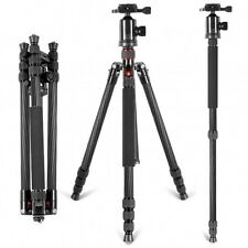 Neewer Carbon Fiber Portable Camera Tripod Monopod with 360 Degree Ball Head