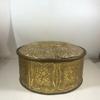 Vintage Gold Colored GUILDCRAFT England Tin Old English S