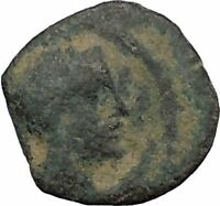 Aretas IV Arab Kingdom of Nabataea PETRA 4BC Original Ancient Greek Coin i50396