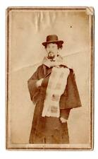 CDV image dapper young man goatee civil war soldiers coat? scarf hat Batavia Oh