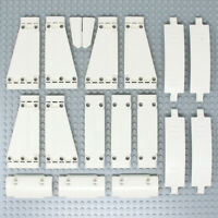 Lego 18x Genuine Technic White Studless Panels and Fairings Bricks - NEW