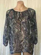 CAPTURE SIZE 12 PAISLEY PRINT  BOHO PEASANT TOP
