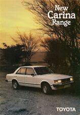 Toyota Carina 1980-81 UK Market Sales Brochure 1600 DX Saloon Estate