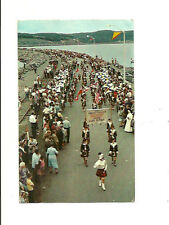 MARCH OF THE 100 PIPERS, ON CANSO CAUSEWAY, NOVA SCOTIA, CANADA CHROME POSTCARD