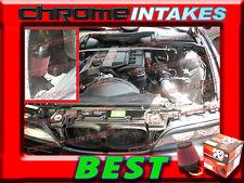 K&N+BLACK RED 96-00/1996 1997 1998 1999 2000 BMW 528i i E39 2.8L COLD AIR INTAKE