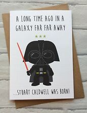 Personalised Handmade Star Wars Birthday Card: Darth Vader (Quirky Funny Geeky)