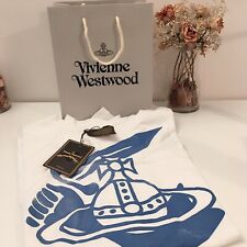VIVIENNE WESTWOOD ANGLOMANIA Printed Logo Print Baggy T-Shirt -Oversize S