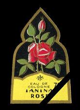 Antique French Perfume Soap Label: Vintage 1940's Rose Etoile Paris