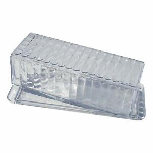 Acrylic Butter Dish w/ Cover, 4 Pack, Clear Crystal Design,Dishwasher Safe
