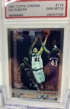 1997 Topps Chrome #115 Tim Duncan RC Rookie Spurs PSA 10 GEM MINT