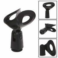 Flexible Wireless,Microphone Mic Stand Plastic Clamp Clip Holder Mount Black