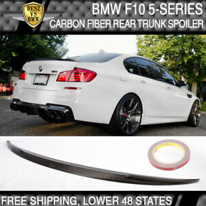 Fits 11-16 BMW F10 5-Series 4Dr Trunk Spoiler Performance Style Carbon Fiber CF