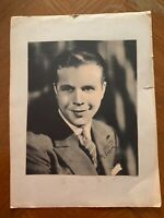 Very old signed photo of actor Dick Powell