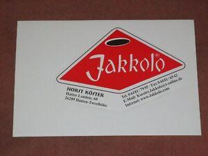 Aufkleber Jakkolo Sjoelbak Geschicklichkeitsspiel Horst Köster Hatten-Tweelbäke