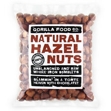 Gorilla Food Co. Natural Hazelnuts Whole Raw - 400g (Great value £ per 1kg)