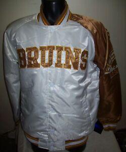 BOSTON BRUINS Starter Snap Down Jacket WHITE/COPPER M, L, XL, 2X
