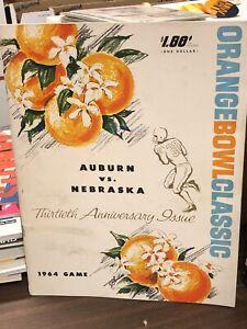 1964 AUBURN   vs NEBRASKA ORANGE BOWL COLLEGE FOOTBALL PROGRAM