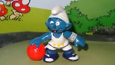 Smurfs Basketball Player Smurf White & Yellow Rare Vintage Display Figurine