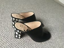 Paul Smith Black Leather Back Mules UK 7 EU 40