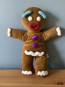"""Shrek The Musical Gingerbread Man Gingy Hand Puppet Plush Soft Toy 13"""""""