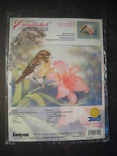 NEW Embellished Counted Cross Stitch Kit by JANLYNN SPARROW And ORANGE LILLY NIP