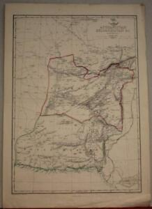 AFGHANISTAN & PAKISTAN 1863 WELLER & DISPATCH ATLAS ANTIQUE LITHOGRAPHIC MAP
