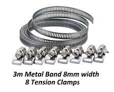 Haga su propio conjunto de cualquier tamaño de abrazadera de la manguera - 8 Abrazaderas Tensión con 3 m banda de metal