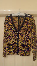 BNWT RRP £150 JUICY COUTURE WOOL LEOPARD BOW CARDIGAN SIZE SMALL 8-10